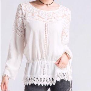 Off White Lace Tunic